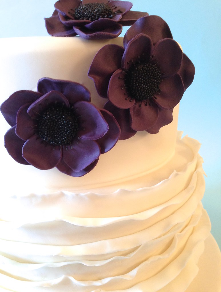 Anemone and Ruffles Wedding Cake Frills Wedding Cake | Flickr