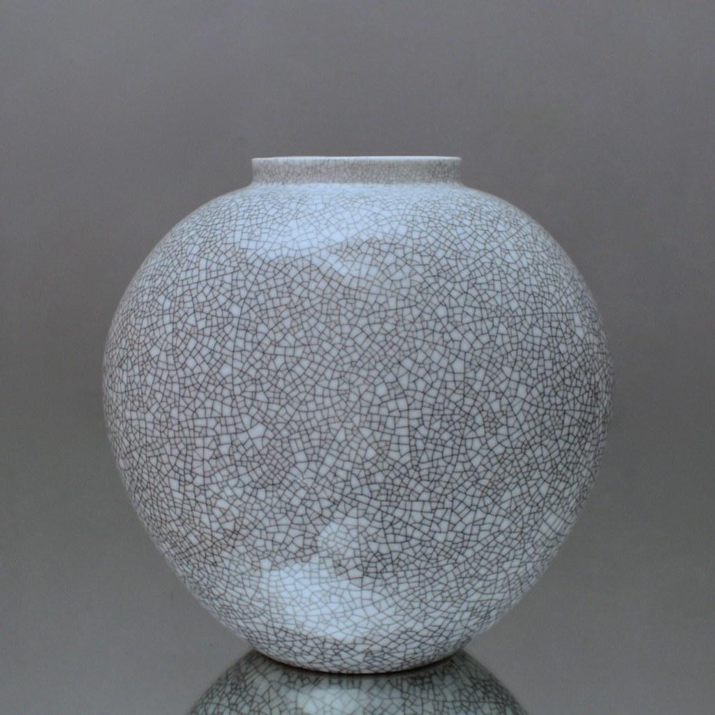 Bemerkenswert Vase Grau Sammlung Von Kpm, Berlin, Vase, Craquele, Grau, Trude Petri,