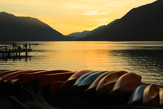 Sunset on Lake Crescent | by Cole Chase Photography