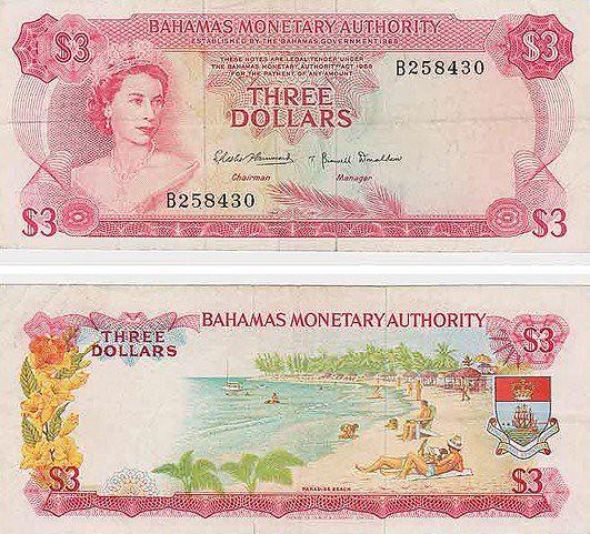 the famous bahamas three dollar bill the famous bahamas th flickr