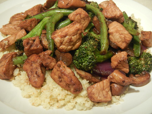 Pork and Veggie Stir Fry Over Cauliflower Rice | by Victoria Rothacker