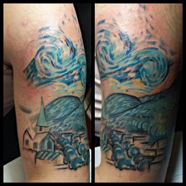 Second Pass On This Vangogh Starrynight Sleeve Tattoo Flickr