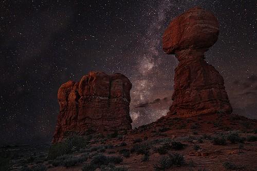 Balanced Rock & The Milky Way