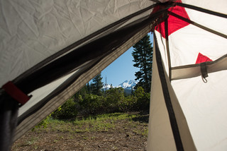 Tent View of Mount Shasta | by goingslowly