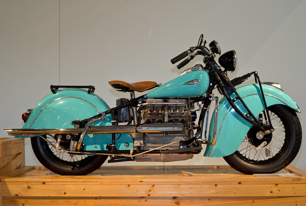 Divemasterking2000 Barber Motorsports Museum 2013 Turquoise Indian Classic Motorcycle
