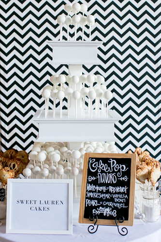 Cake pop and pie pop display at Unveiled! | by Sweet Lauren Cakes