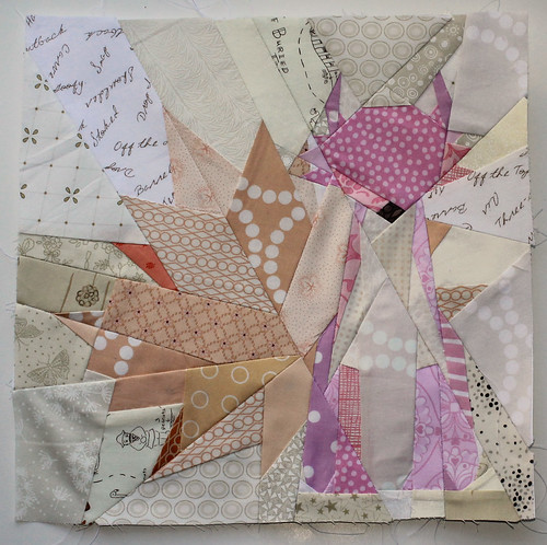 Paper pieced fox block | by wombatquilts