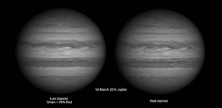 Luminosity and Red channel - 1st March Jupiter. | by Mick Hyde