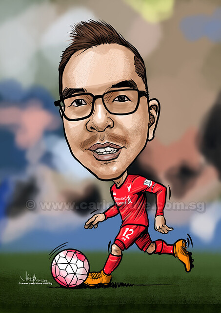 Liverpool soccer digital caricature for PropertyGuru (watermarked)