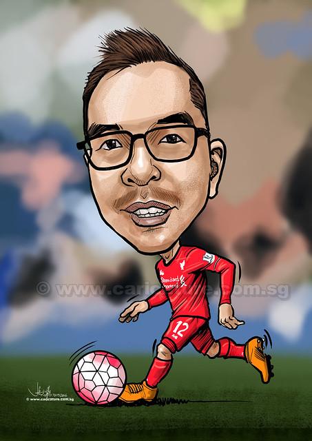 Liverpool soccer digital caricature for PropertyGuru (watermarked)