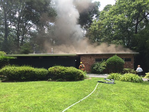 several photos from house fire