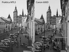 Praktica mtl b spiegelreflexkamera mit objektiv und