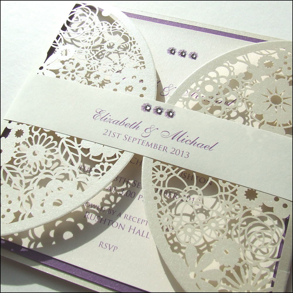 Laser Cut Doily Wedding Invitation | Finished with paper ban… | Flickr