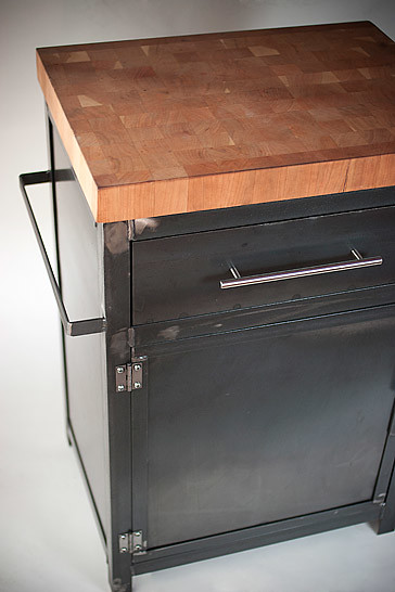 ... Boos Butcher Block Kitchen Cart, Industrial Kitchen Cart, Prep Stand,  Custom Furniture |