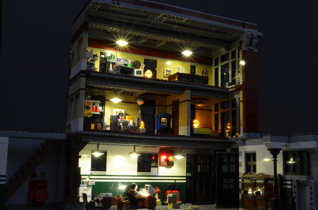 lego lighting. Brickstuff Lighting Kit For The LEGO Ghostbusters Firehouse HQ | By Lego O