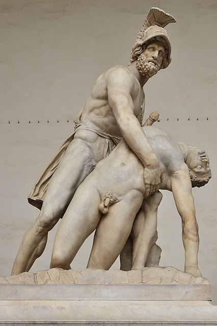 Greek Hero Menelaus holding the body of Patroclus