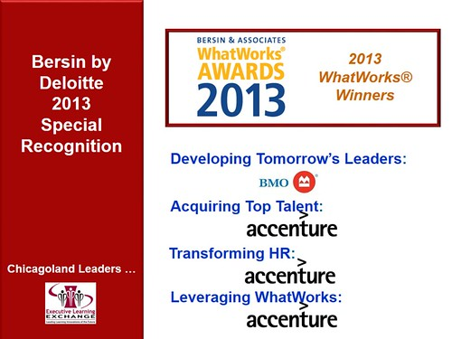 Bersin WhatWorks Awards | by learningexecutive