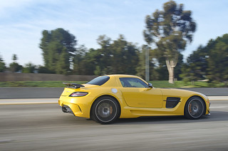 Yellow Mercedes-Benz SLS Black Series | by Axion23
