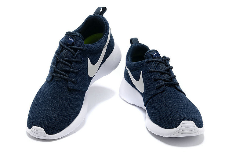 uk availability 9d3dc 4c42b ... chaussures nike roshe run id homme bleu marine blanc blanc logo  by  lisabeals0929