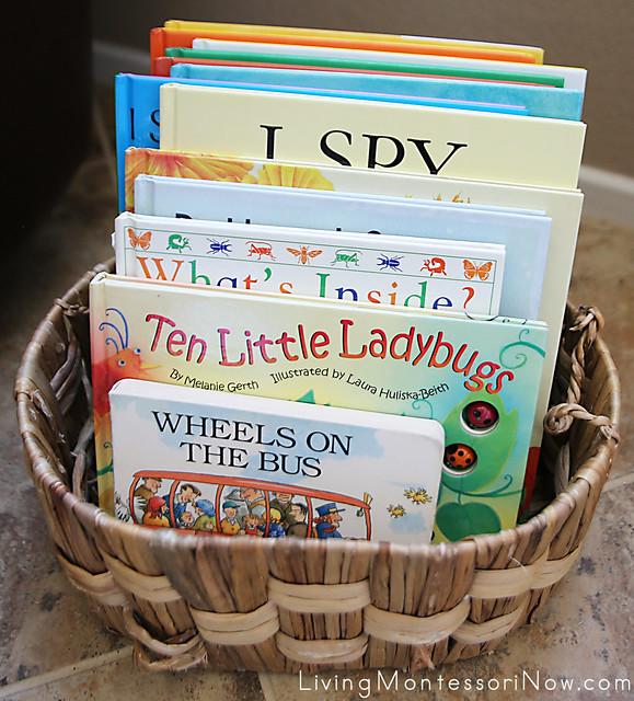 Montessori Book Basket