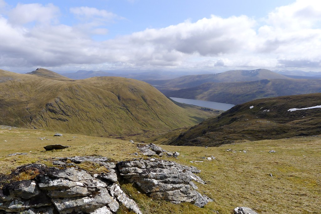 High above Loch Fannaich