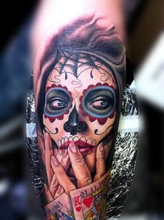 Sugar Skull Tattoo Sleeve Idea4 Long Lanh Flickr