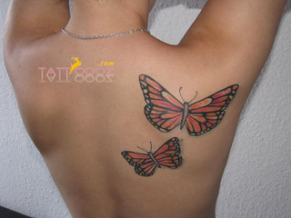 Butterfly tattoos on back (6) | by Tattoooz