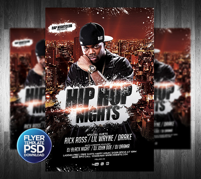 Hip Hop Flyer Psd Template | You Can Download The Template H… | Flickr