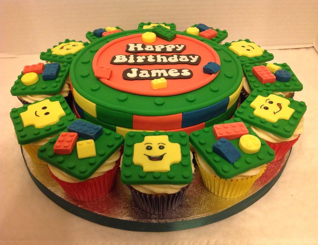Lego Birthday Cake Cupcakes Liz Flickr