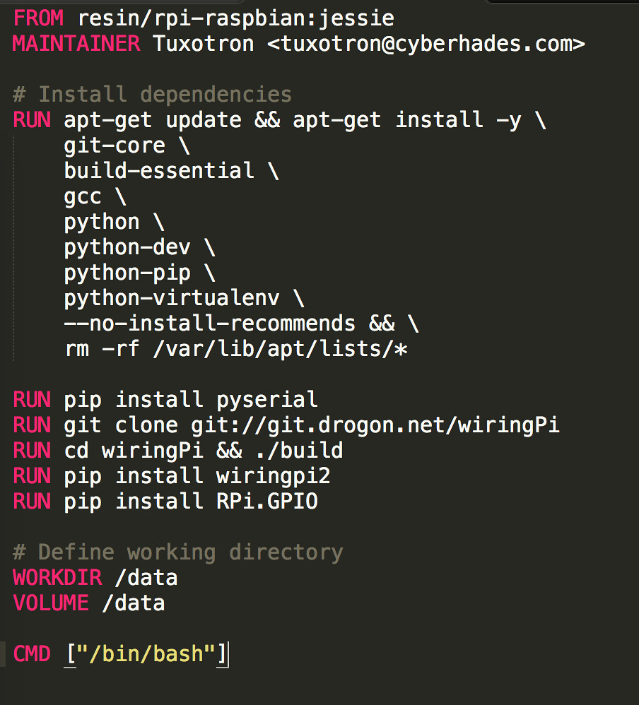 Dockerfile Cyberhades Flickr Using Wiringpi In Python By