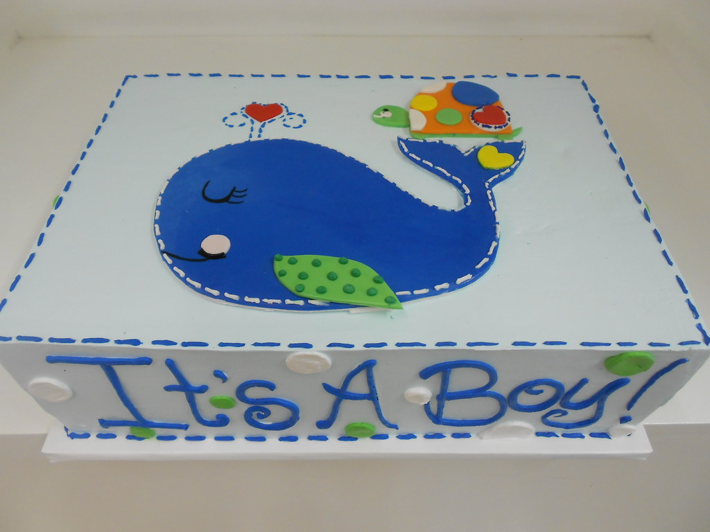 Whale Baby Shower Cake 2028 Asweetdesignfo 81836 Flickr