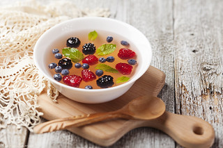 Apricot soup with berries | by Maria Komar