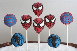 Spiderman Cake Pops | by Sweet Lauren Cakes