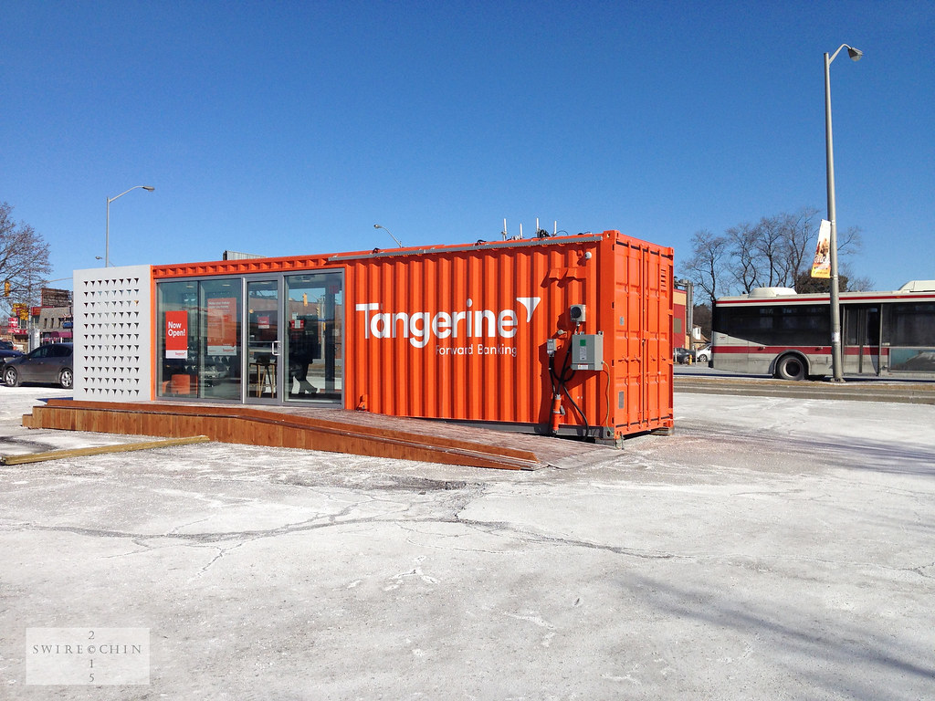 Pop-up Tangerine Bank office | I recent bought a second-hand… | Flickr