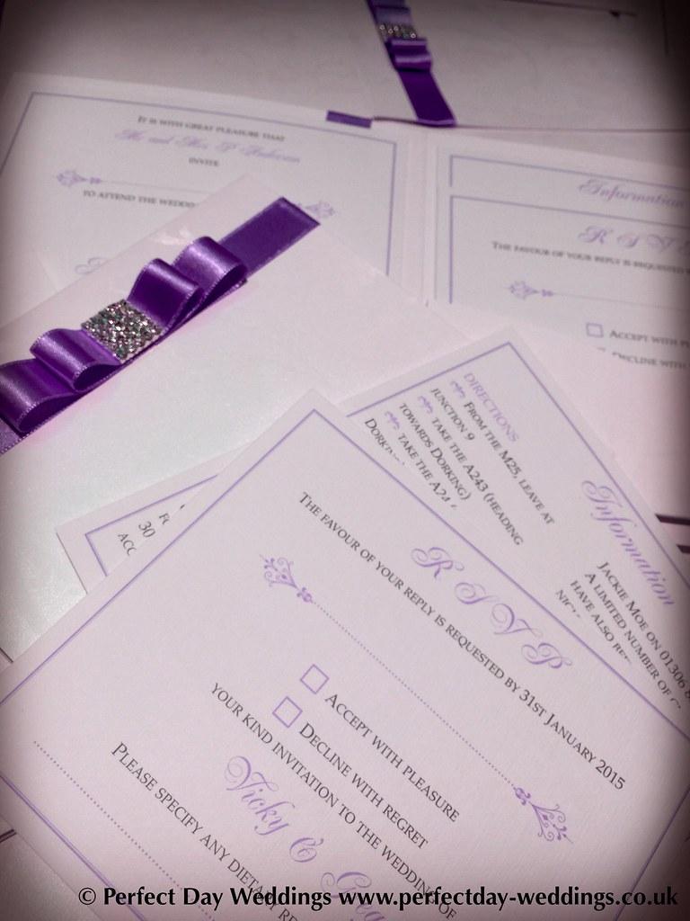 Wedding Stationery London: Luxury Handmade Bespoke purple … | Flickr