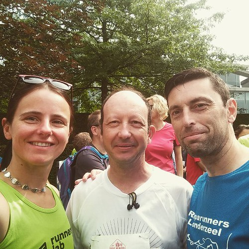 De collega's. Toen zagen we het nog zitten. #greatbreweriesmarathon #25km #running #runstagram #run #runfie