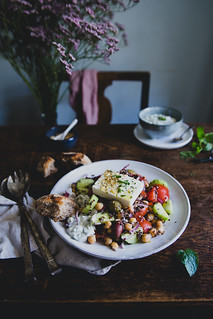 Greek Quinoa Salad w Mint Tzatziki | Cashew Kitchen | by cashewkitchen