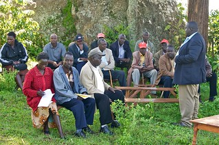 Rev. Killong with the Area Peace Committee in Chemoge Location | by UNDP KENYA