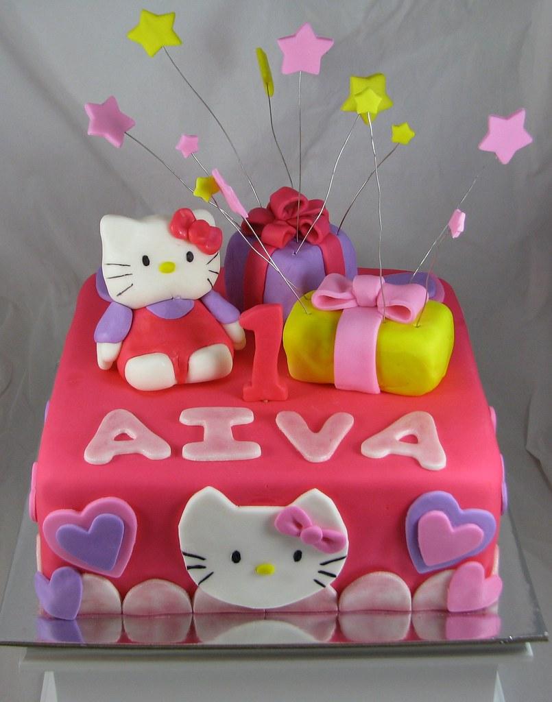 Hello Kitty 1st Birthday Cake And Smash Cake White Almond Flickr