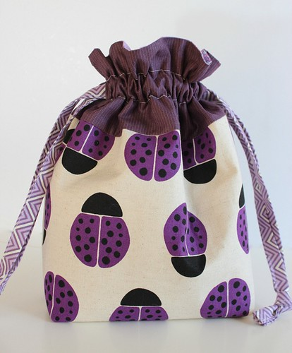 Ladybug Drawstring Bag | by Saltwater Quilts