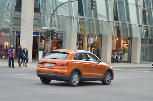 orange on Audi Q3 TDI B-OP-529 (in motion) (5) @ Nuernbergerst. Berlin | by Transaxle (alias Toprope)
