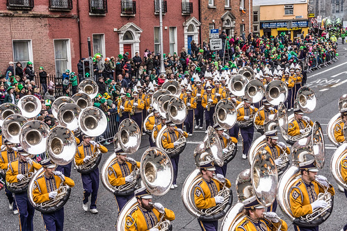 Louisiana State University Tiger Marching Band - St. Patrick's Day Parade In Dublin [Ireland] | by infomatique