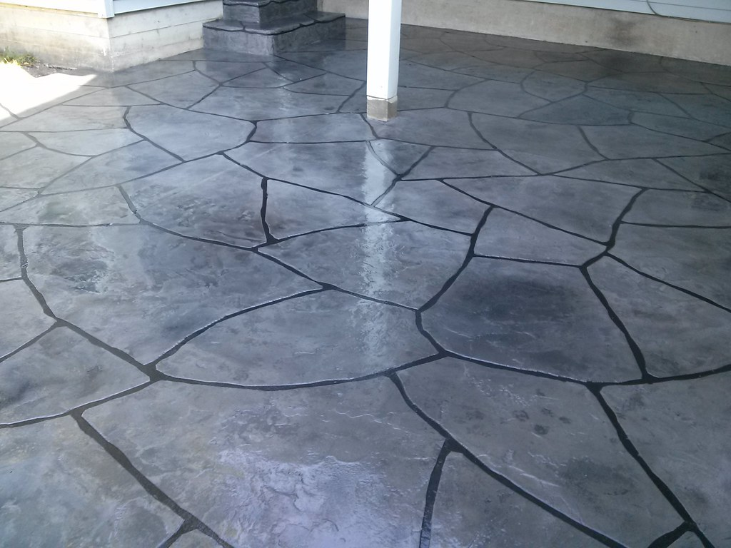 ... Grand Flagstone Patio | By Decorative Concrete Kingdom