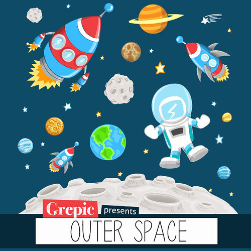 Outer space clipart outer space clip art pack with plan for Jobs in outer space