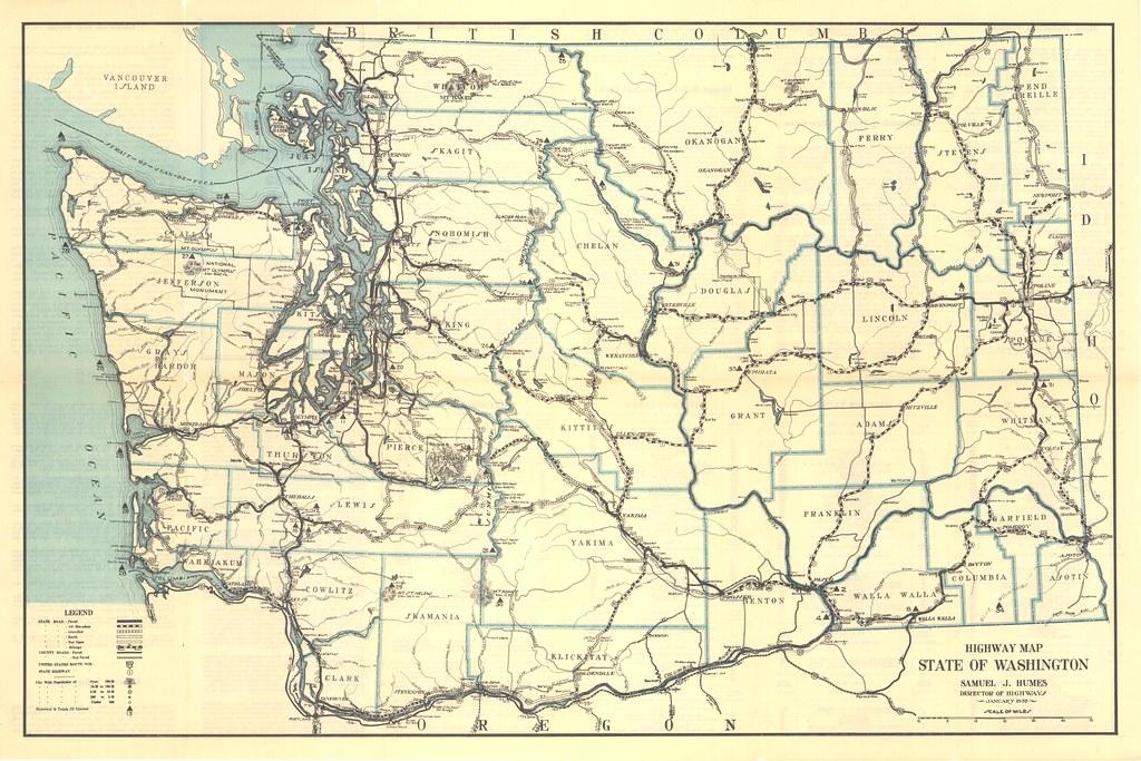 Washington State Highway Map Washington State Dept Of - Map of the state of washington