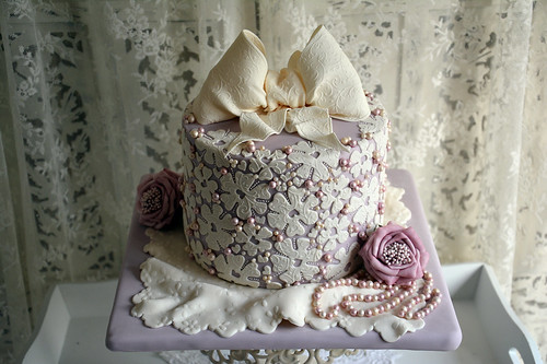 A pearl wedding anniversary cake i made this for our