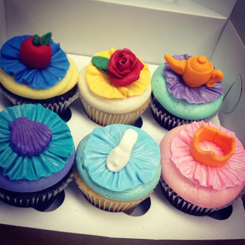 Disney princess cupcakes Round Town Cupcakes Flickr