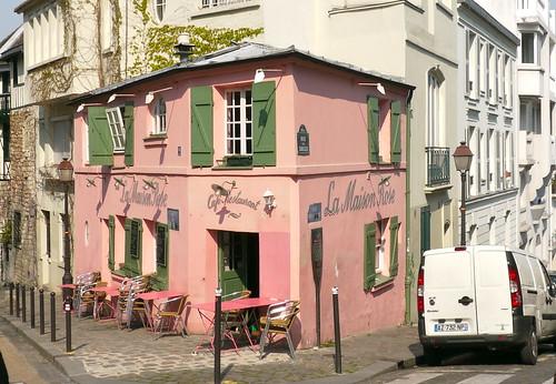 Paris montmartre rue des saules et rue de l 39 abreuvoir l - Eugenie les bains la maison rose ...