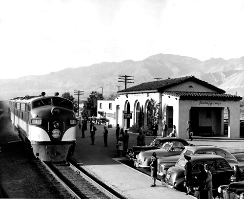 Palm Springs 1949 Southern Pacific Station A New Train