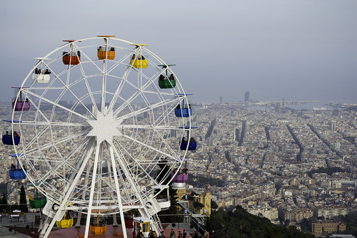 Tibidabo Park,  best vantage points to view the city of Barcelona | 140504-1618-jikatu | by jikatu